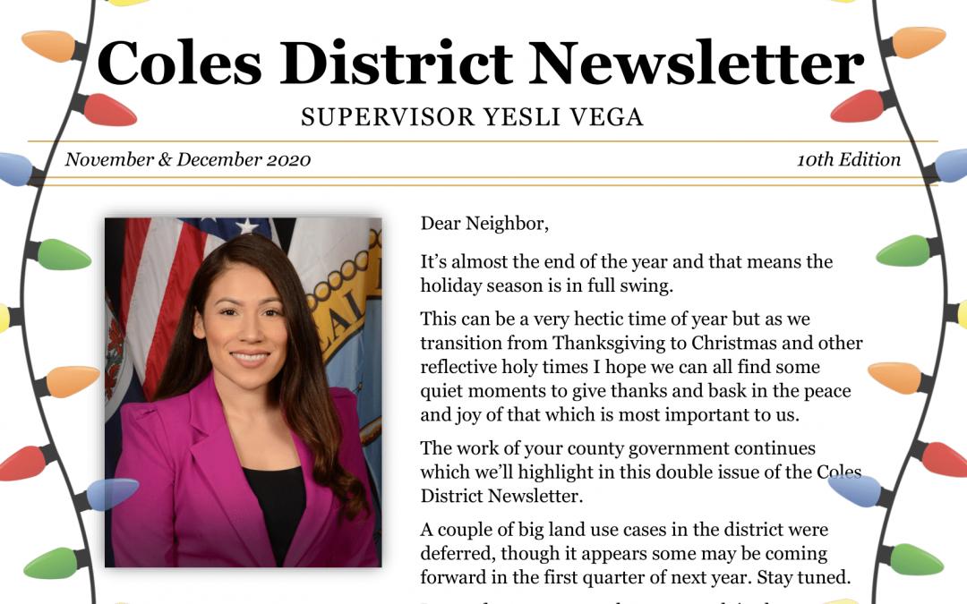 Newsletter: November & December 2020 – 10th Edition