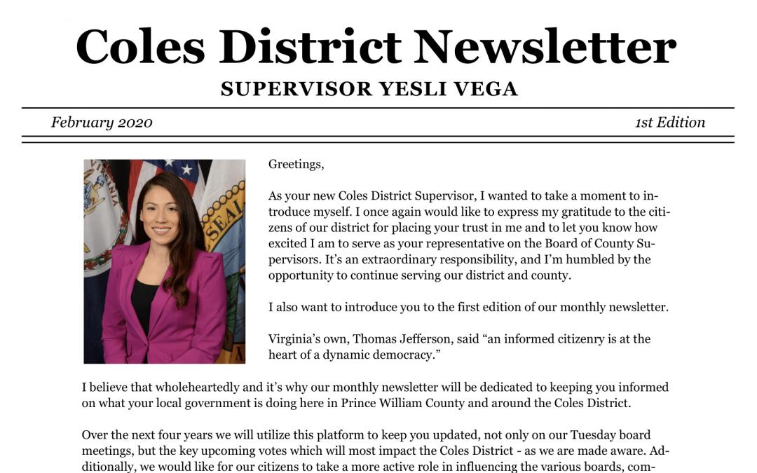 Newsletter: February 2020 – 1st Edition