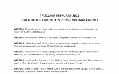 Black History Month Proclamation 2021